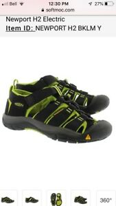 NEW Keen Boys Lime and Black Sandals