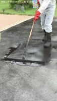 Slurry sealcoating parking lots and driveways