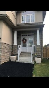 Precast concrete stairs and railing