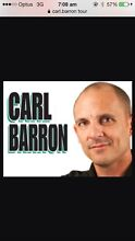 WANTING TO BUY 2x Carl Barron tickets Ipswich Ipswich City Preview