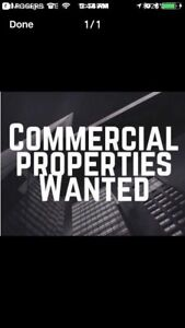Commercial land wanted!!!