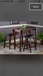 3 piece counter height dining table