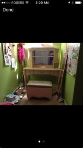 Barbie desk and bench
