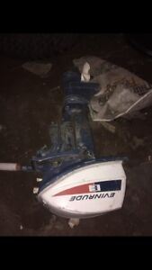 6 hp evinrude trade for ice fishing flasher or shelter