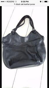 """The Sac"" Black Leather Purse"