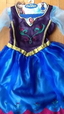 Disney Frozen Anna Movie Costume Halloween Roleplay A Disney Dress 4-6 Size - Halloween Movie Disney