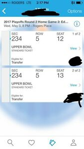 $750/pair of Oilers playoff tickets