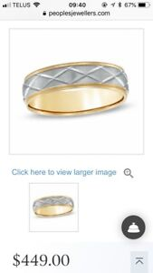Men's wedding 10k gold band
