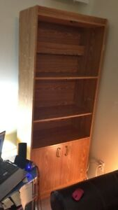 Large Bookcase/Shelf. Very sturdy. Measurements in ad.