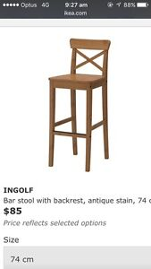 IKEA Ingolf barstool with backrest Beaumaris Bayside Area Preview