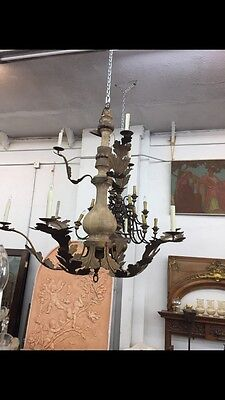 Spanish Revival Spanish Mediterranean Style Wood And Iron 5' Chandelier 11