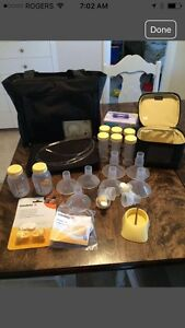 Medela Double Breast Pump with accessories