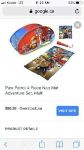 Paw patrol sleeping bag and flashlight