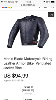 Brand new motorbike armour leather jacket from the USA