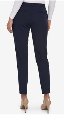 Tommy Hilfiger Women's Pants Blue Belted Stretch Cuffed Ankle Size 10 NWT