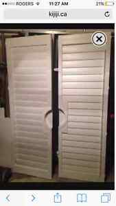 Brand New Shutters for French Doors