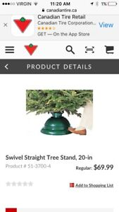 Swivel straight Christmas tree stand