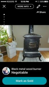 Potbelly wood burning stove
