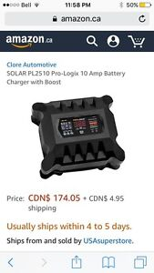Solar PL2510 12VDC Battery Charger plus booster