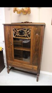 Antique Hutch on Casters $195