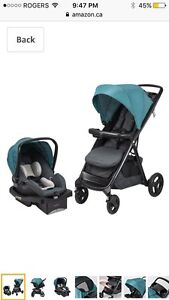 New Evenflo Lux24 Travel System with LiteMax Infant Car Seat