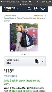 Casual Canine Dog Carrier NEW!!