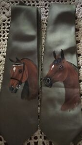 Hand painted Horse ties