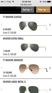 90% brand-new Rayban aviator for sale