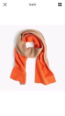 J.Crew Collection Colorblock Cashmere Scarf | Camel Orange | $168 for sale  Flushing