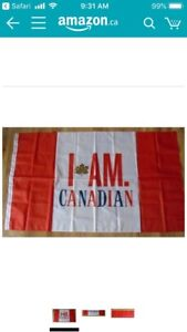 I AM CANADIAN FLAG ( Can Mail Out)