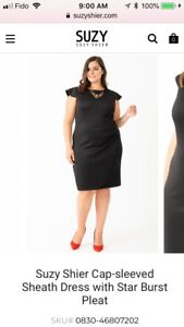Suzy Shier plus size cap sleeve dress 2x