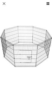 Pet Playpen Portable Exercise Cage Fence Dog Puppy Rabbit Enclosure