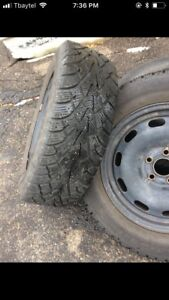 Winter tires 195/65R/15 with rims $400 OBO