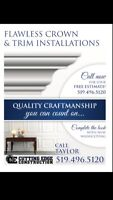 FLAWLESS CROWN MOULDING, TRIM, BASEBOARD, WAINSCOTTING & DOORS