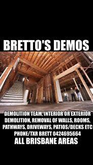 Bretto's Demos- Demolition Team All Brisbane Areas