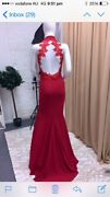 Red Ball gown size 8-10 custom made in London Joondalup Joondalup Area Preview
