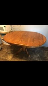 Clean Solid oak dining table chair