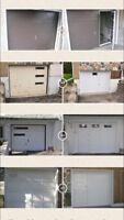 Installation de porte de garage avec passage