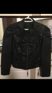 Women's Faux Leather Jacket. Size S/M.