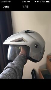 Size small motorcycle dot approved helmet