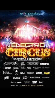 3x electro circus tickets for sale  Salamander Bay Port Stephens Area Preview