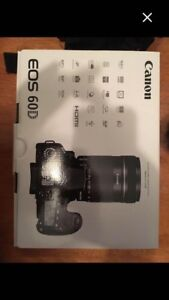 Canon EOS 60D camera and professional lighting
