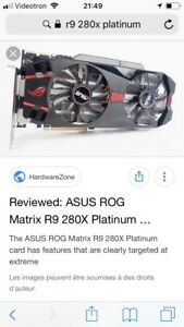 Rog Asus R9 280x platinum ultra edition