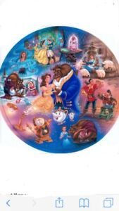 Disney's beauty and the beast plates