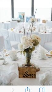 Beautiful set of 9 centrepieces (wedding, anniversary)