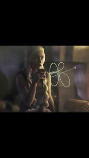 Emilia Clarke ( Daenerys Targaryen ) AUTOGRAPH Fremantle Fremantle Area Preview