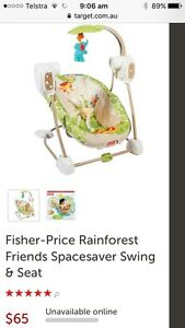 Fisher price space saver seat & swing Cooranbong Lake Macquarie Area Preview