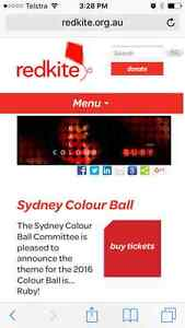 One single ticket to the Redkite Colour Ball this Saturday 27/08 Sydney City Inner Sydney Preview