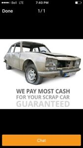 I buy junk vehicles or vehicles that work for inspection