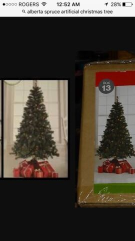 6ft Alberta spruce artificial Christmas tree 250 lights